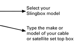 Select your Slingbox Model
